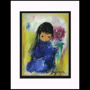 DeGrazia - Blue Girl 11x14 Matte Print