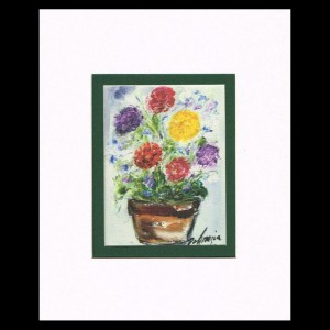 DeGrazia - A Pot of Flowers 8x10