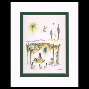 DeGrazia - First Christmas in Arizona 8x10 Matte Print