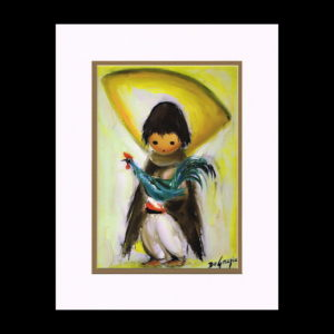 DeGrazia 11x14 Matte Print - boy-with-rooster-1966